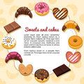 Sweets and cakes forming a frame Royalty Free Stock Photography