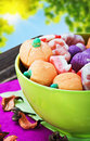 Sweets and candies for the holiday halloween on a background Royalty Free Stock Photography