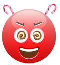 Sweets are dangerous emoticon concept illustration Royalty Free Stock Images