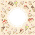 Sweets frame. Royalty Free Stock Images