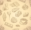 Sweets hand drawn food Stock Photo