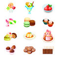 Sweets icons Royalty Free Stock Images