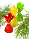 Sweets and pine branches Stock Photo