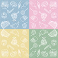 Sweets seamless pattern Stock Photos