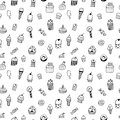 Sweets seamless pattern hand drawn Royalty Free Stock Image