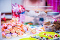 Sweets and snacks some on table in wedding reception party Royalty Free Stock Photography