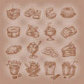 Sweets vector format authors illustration in Royalty Free Stock Photo