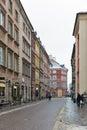 Swietojanska street in Warsaw Old Town, Poland.