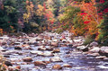 Swift river in autumn new hampshire Stock Photography