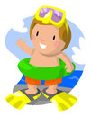 Swim Boy Royalty Free Stock Photo