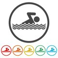 Swim icon Royalty Free Stock Photo