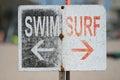 SWIM SURF Venice beach, CA Royalty Free Stock Photo