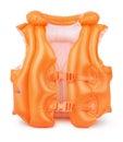 Swim vest orange inflatable isolated on white Stock Image