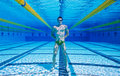 Swimmer Underwater Stock Photography