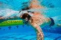Swimmer Underwater Stock Photo
