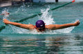 Swimmers are following the swimming competitions in the city of solo central java indonesia Royalty Free Stock Image