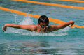 Swimmers are following the swimming competitions in the city of solo central java indonesia Stock Photography