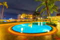 Swimmimg pool beautiful night Royalty Free Stock Photo