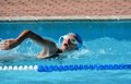 Swimming athlete Stock Images