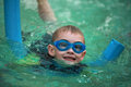 Swimming boy close up of a Royalty Free Stock Photo