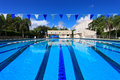 Swimming competition Pool Royalty Free Stock Image