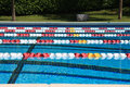 Swimming competition Pool Stock Photos