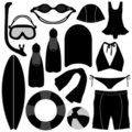 Swimming Diving Snorkeling Aquatic Equipment Tool Stock Photos