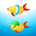 Swimming fishes Royalty Free Stock Image