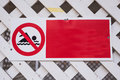 Swimming forbidden - no swimming sign Royalty Free Stock Photo