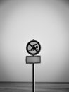 Swimming forbidden sign Royalty Free Stock Photo