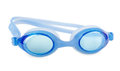 Swimming glasses on a white background Royalty Free Stock Photo