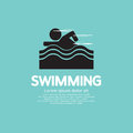 Swimming graphic vector illustration eps Royalty Free Stock Image