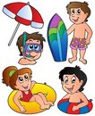 Swimming kids collection Royalty Free Stock Image