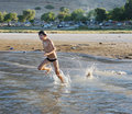 Swimming in lake Kinneret Royalty Free Stock Image