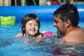 Swimming lessons Royalty Free Stock Image
