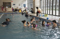 Swimming lessons New York USA Royalty Free Stock Photo