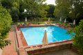 Swimming pool in Alvito castelo pousada Royalty Free Stock Image
