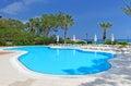 Swimming pool area Royalty Free Stock Photo