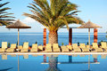 Swimming pool beach modern luxury hotel thassos island greece Stock Photography