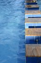 Swimming pool blue water on a Royalty Free Stock Images