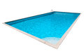 Swimming pool with blue water isolated Royalty Free Stock Photo