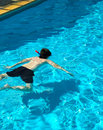 Swimming Pool with Boy Stock Photo
