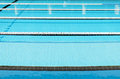 Swimming pool and clearly marked lanes Stock Photos