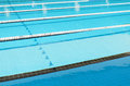 Swimming Pool and clearly marked lanes Royalty Free Stock Photo