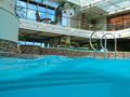 Swimming pool on cruise ship Royalty Free Stock Photo