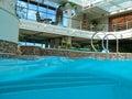 Swimming pool on cruise ship Royalty Free Stock Image