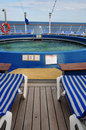 Swimming pool on cruise ship Stock Image