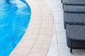 Swimming pool detail generic for a flexible use on travel and turistic brochures Stock Images