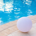 Swimming pool detail generic for a flexible use on travel and turistic brochures Royalty Free Stock Image