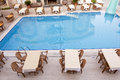 Swimming pool and dining area Royalty Free Stock Photo